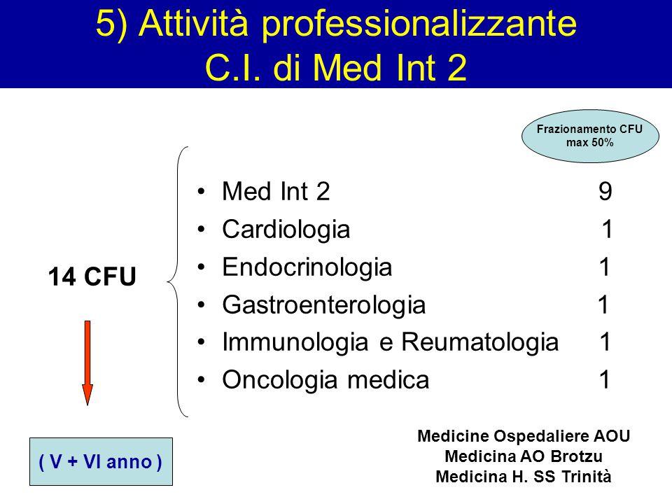 5) Attività professionalizzante C.I. di Med Int 2