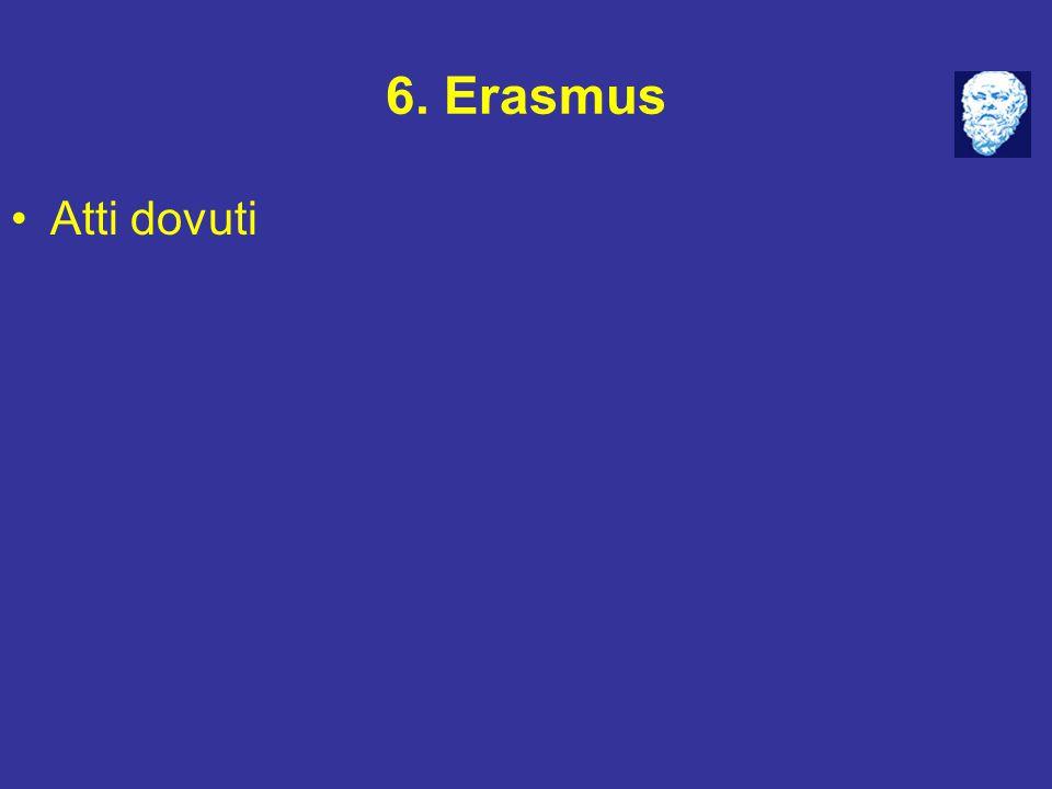 6. Erasmus Atti dovuti