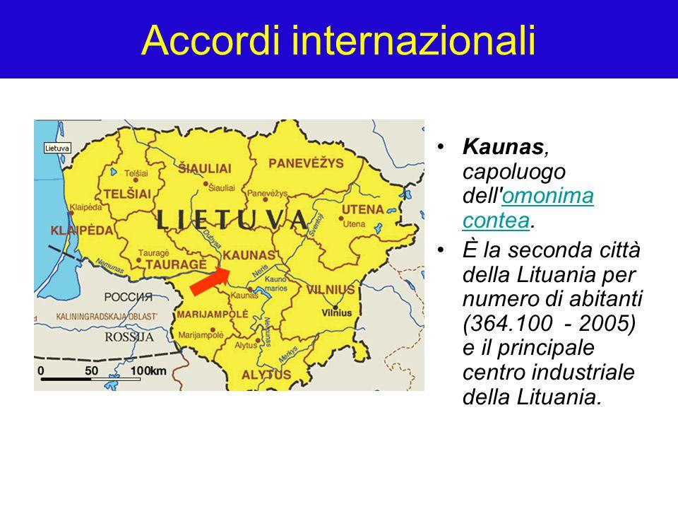 Accordi internazionali