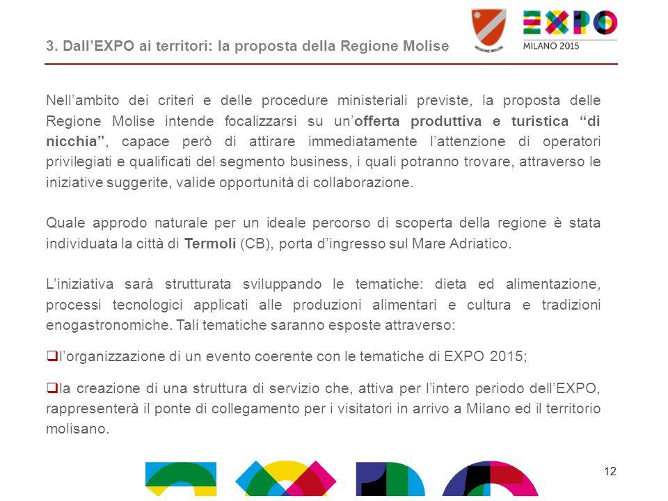 3. Dall'EXPO ai territori: la proposta della Regione Molise