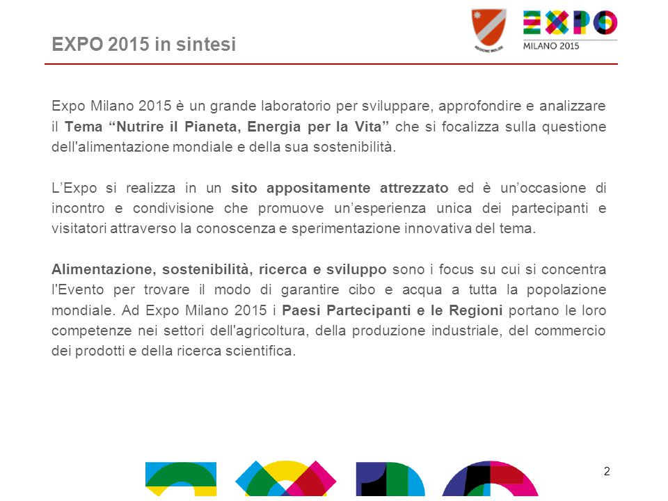 EXPO 2015 in sintesi