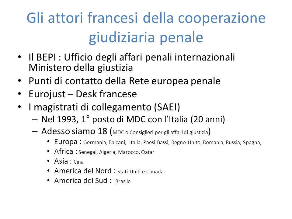 Gli attori francesi della cooperazione giudiziaria penale