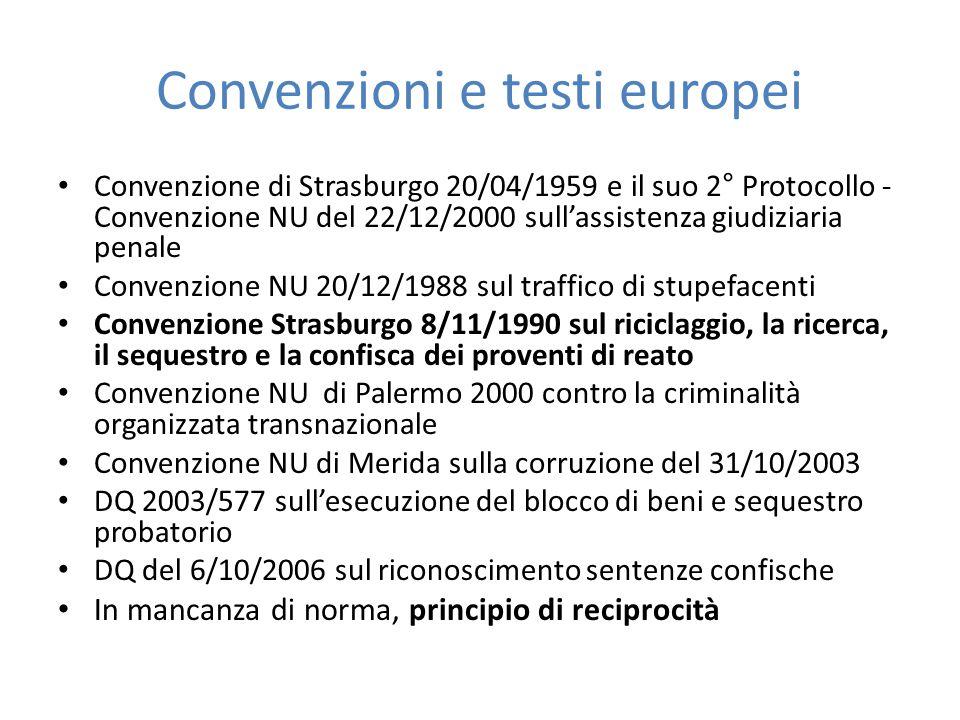 Convenzioni e testi europei