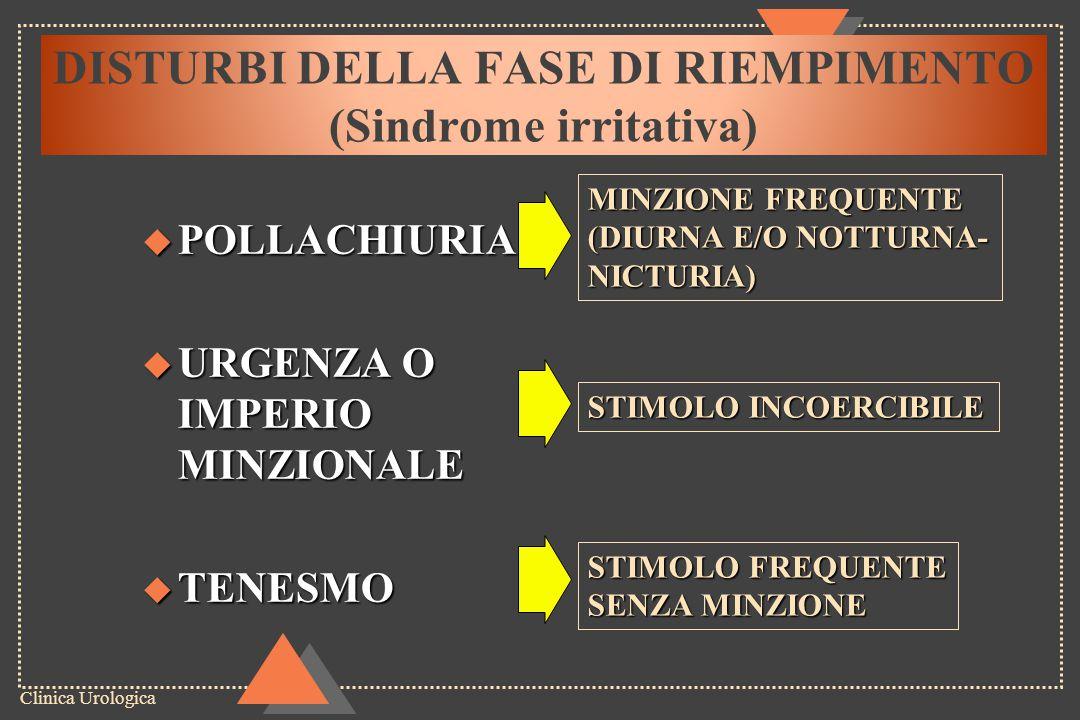 DISTURBI DELLA FASE DI RIEMPIMENTO (Sindrome irritativa)