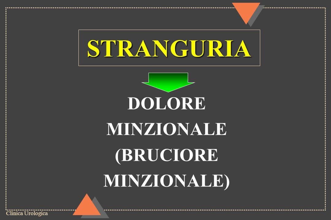 STRANGURIA DOLORE MINZIONALE (BRUCIORE MINZIONALE)