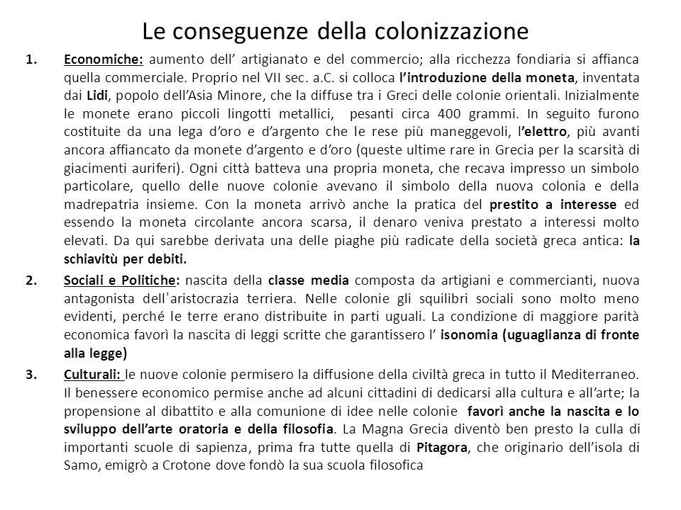 Le conseguenze della colonizzazione