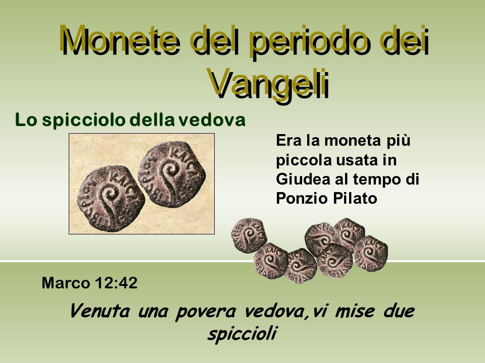 Monete del periodo dei Vangeli