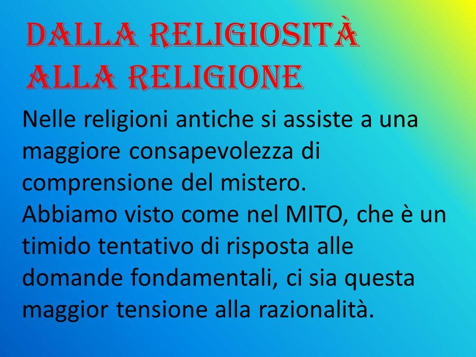 Dalla religiosità alla religione