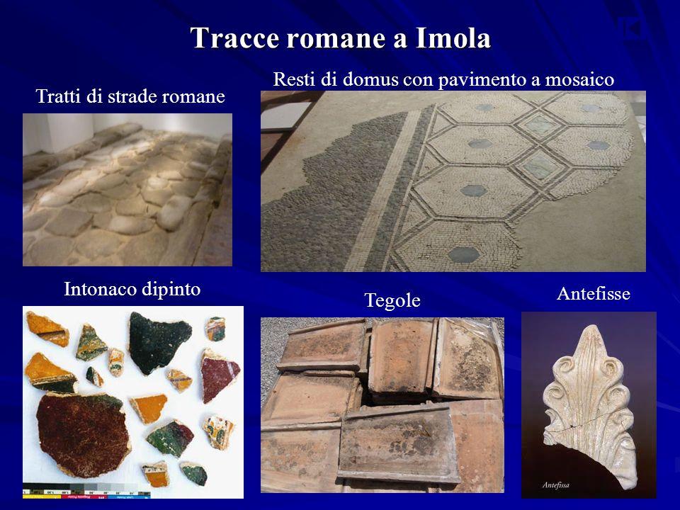 Tracce romane a Imola Resti di domus con pavimento a mosaico