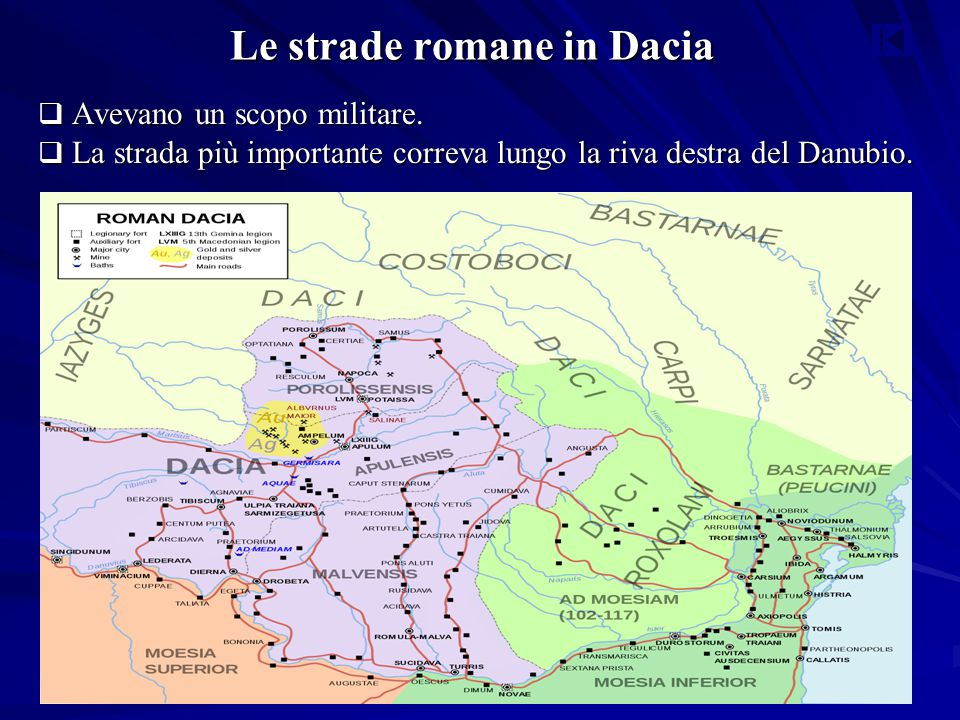 Le strade romane in Dacia