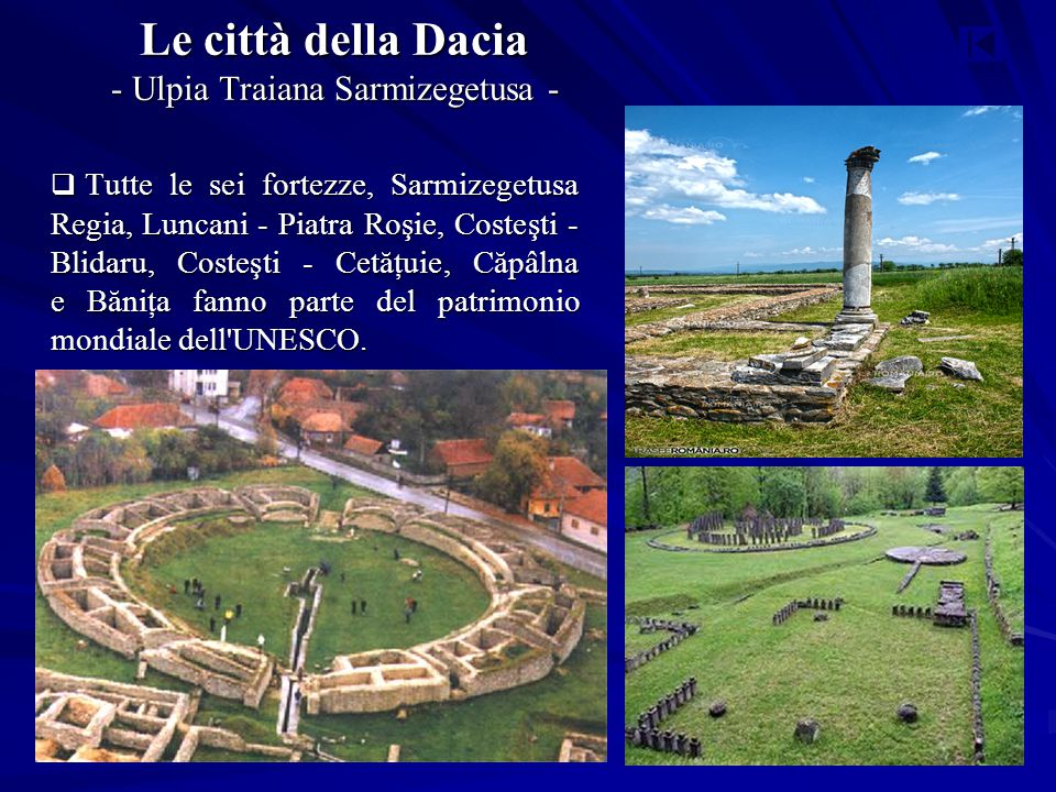 Le città della Dacia - Ulpia Traiana Sarmizegetusa -