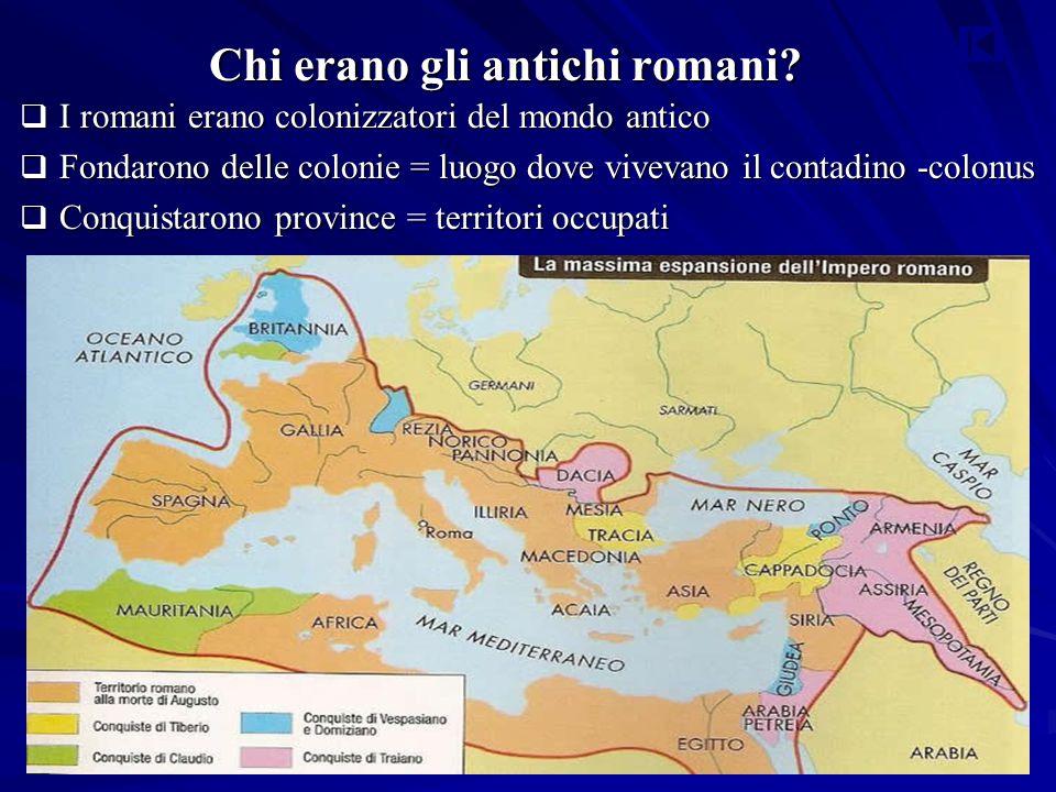 Chi erano gli antichi romani