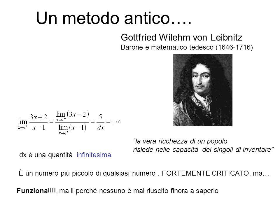 Un metodo antico…. Gottfried Wilehm von Leibnitz