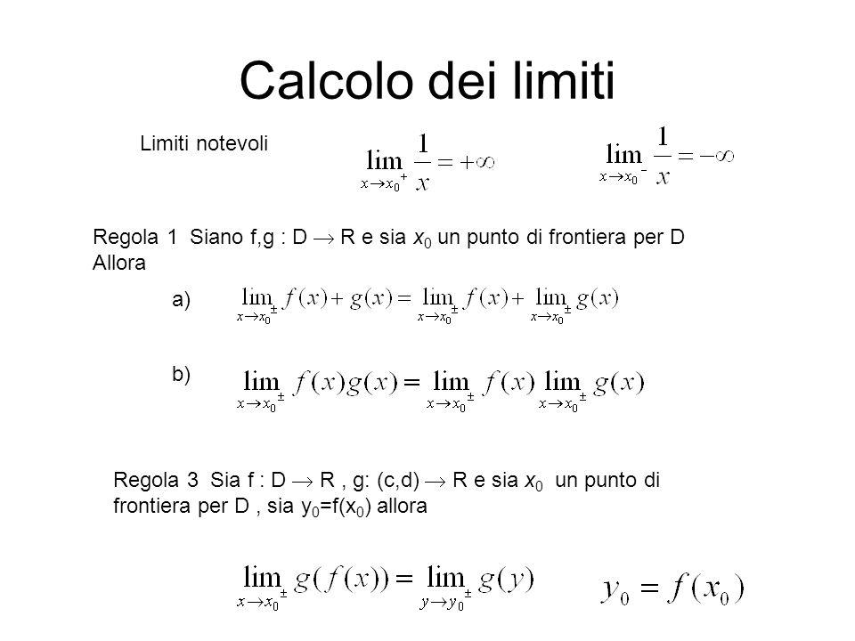Calcolo dei limiti Limiti notevoli