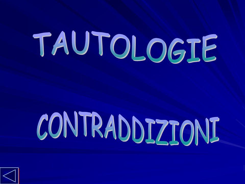 TAUTOLOGIE CONTRADDIZIONI