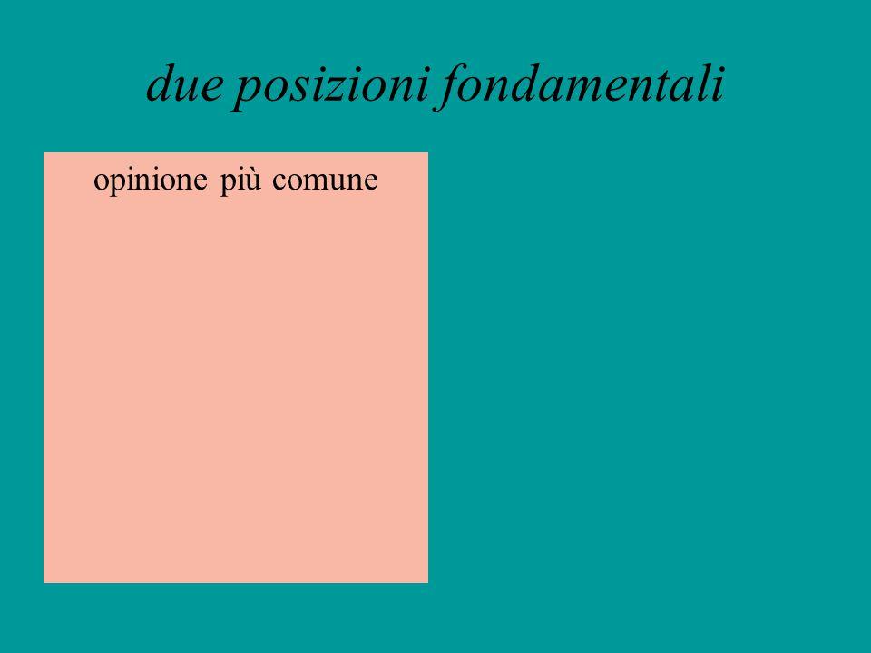 due posizioni fondamentali
