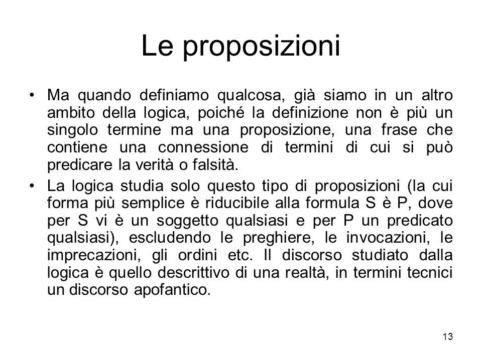 Le proposizioni
