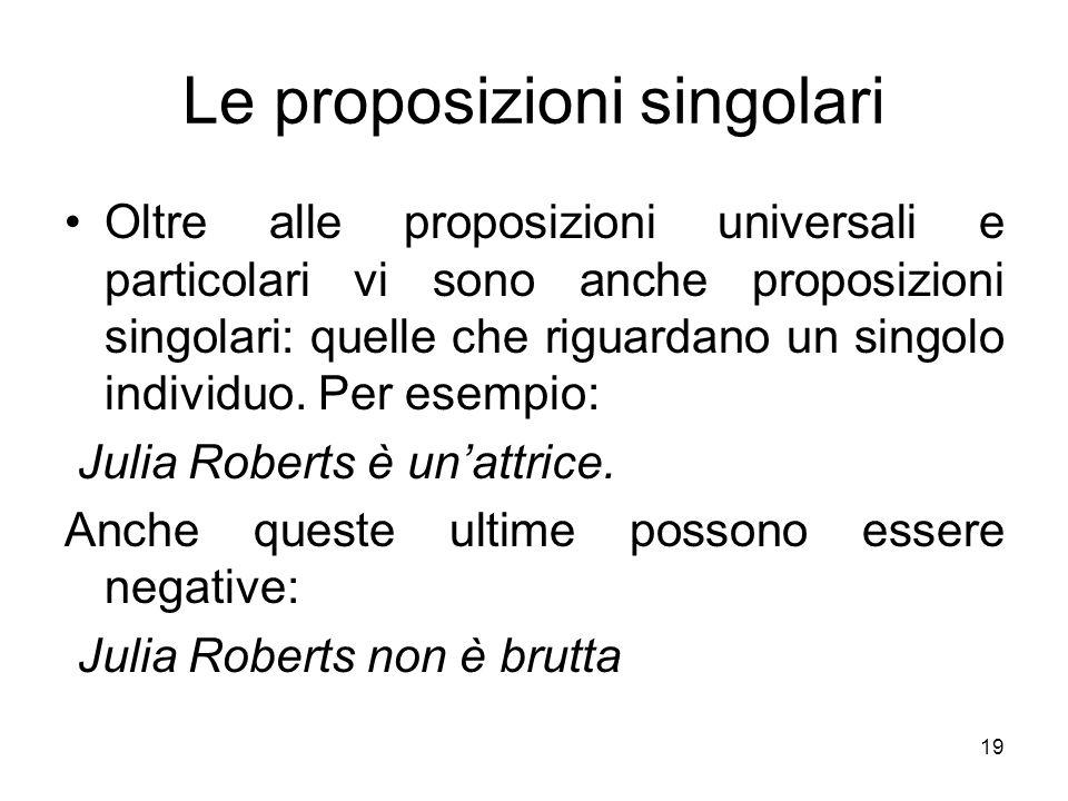 Le proposizioni singolari