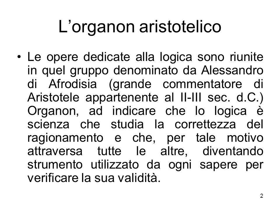 L'organon aristotelico
