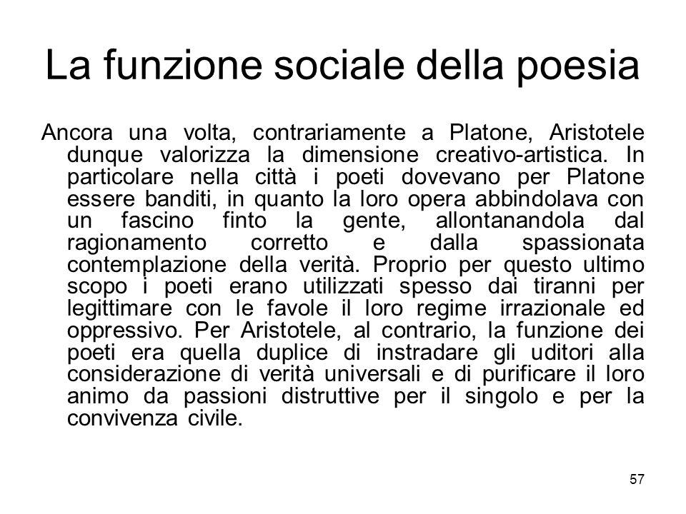 La funzione sociale della poesia