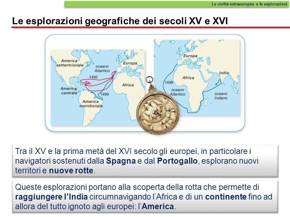 Le esplorazioni geografiche dei secoli XV e XVI