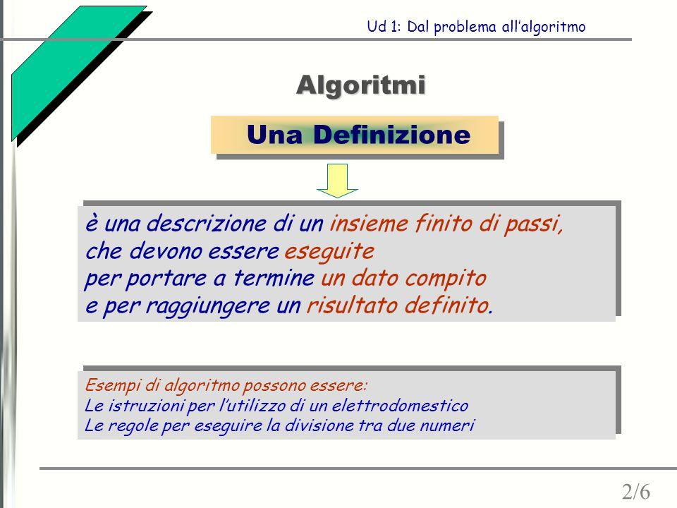 Algoritmi Una Definizione