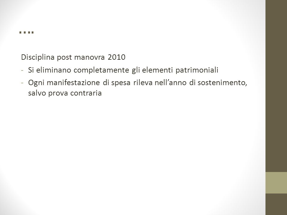 …. Disciplina post manovra 2010