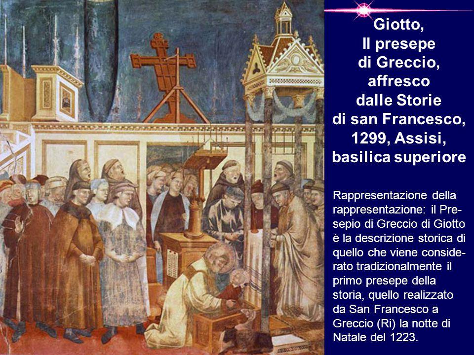 Giotto, Il presepe di Greccio, affresco dalle Storie di san Francesco, 1299, Assisi, basilica superiore
