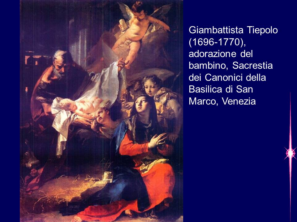 Giambattista Tiepolo (1696-1770), adorazione del bambino, Sacrestia dei Canonici della Basilica di San Marco, Venezia