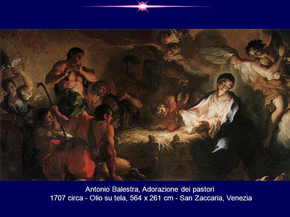 Antonio Balestra, Adorazione dei pastori 1707 circa - Olio su tela, 564 x 261 cm - San Zaccaria, Venezia