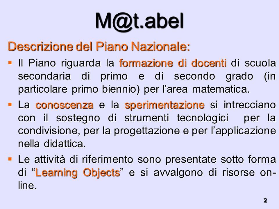 M@t.abel Descrizione del Piano Nazionale: