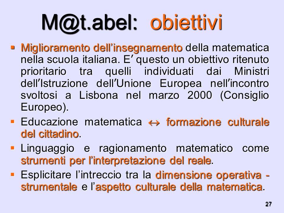 M@t.abel: obiettivi