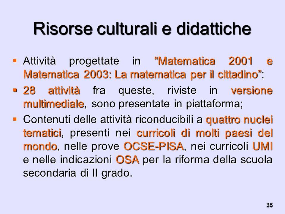 Risorse culturali e didattiche