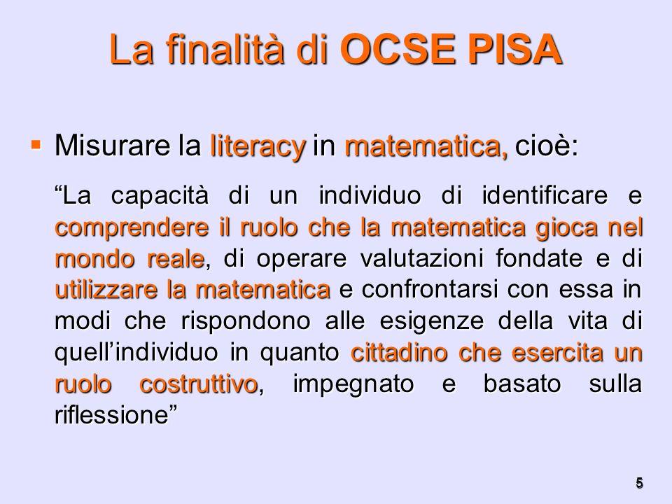 La finalità di OCSE PISA