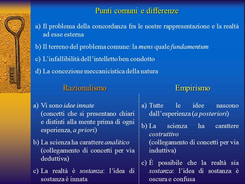 Punti comuni e differenze