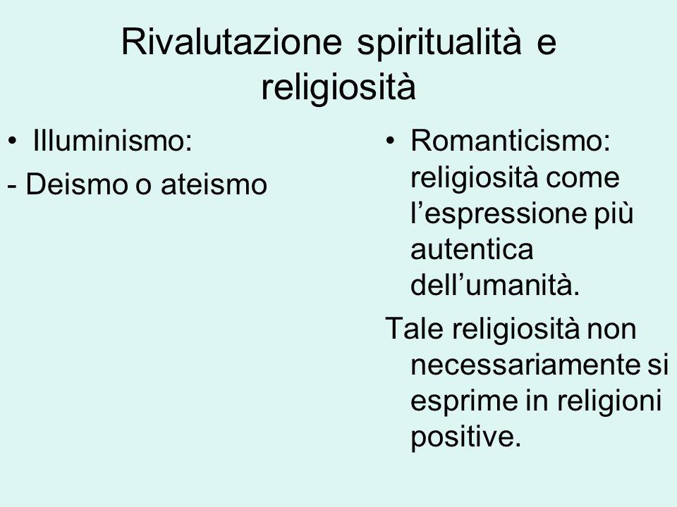 Rivalutazione spiritualità e religiosità