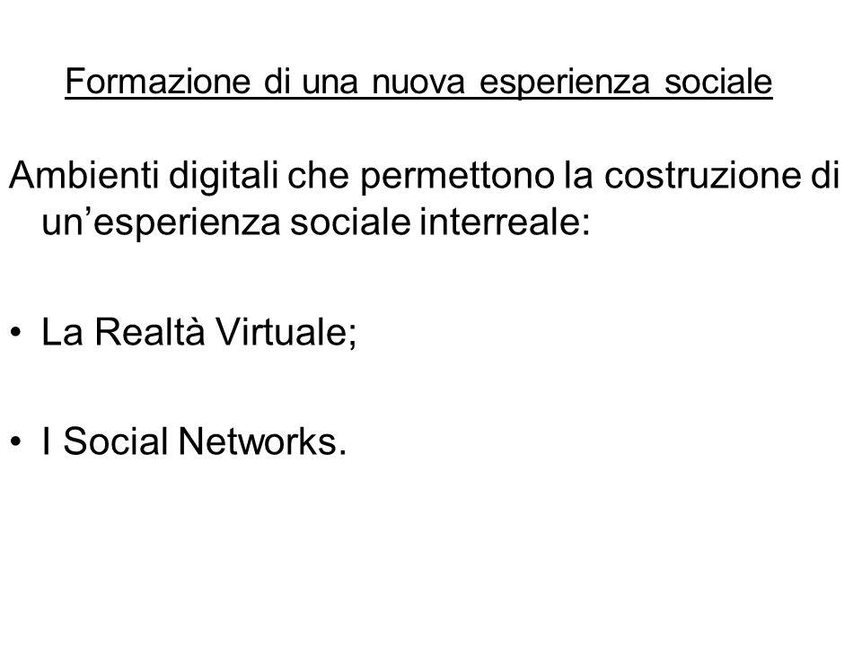 Formazione di una nuova esperienza sociale