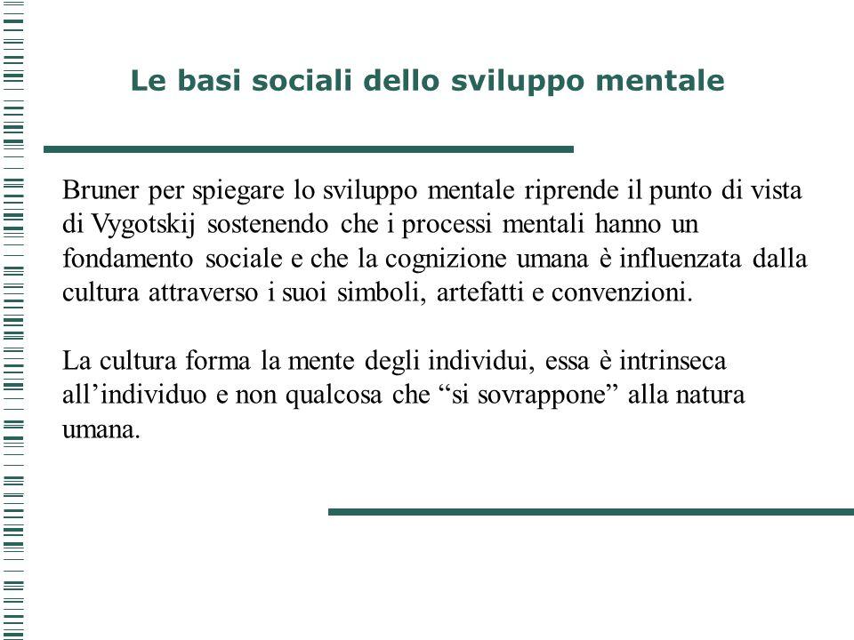 Le basi sociali dello sviluppo mentale