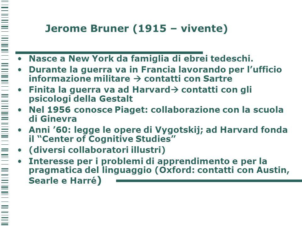 Jerome Bruner (1915 – vivente)