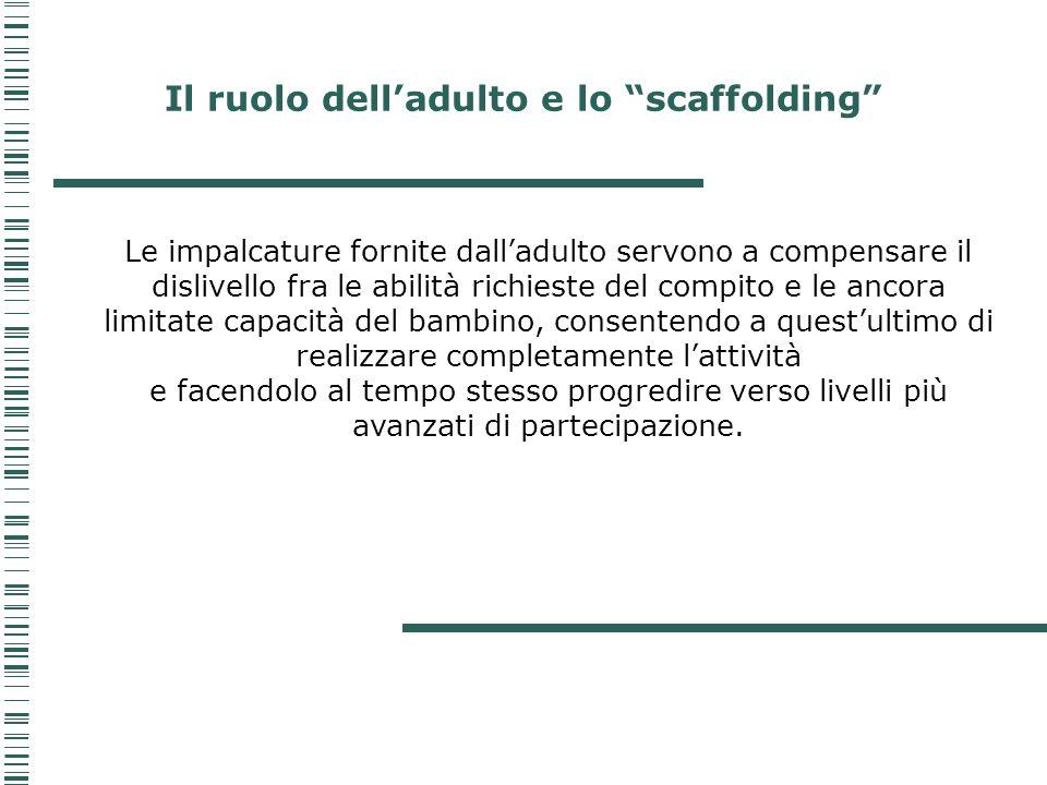 Il ruolo dell'adulto e lo scaffolding
