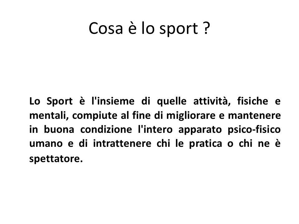 Cosa è lo sport