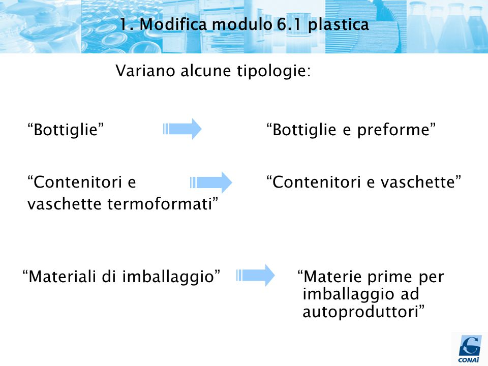 1. Modifica modulo 6.1 plastica