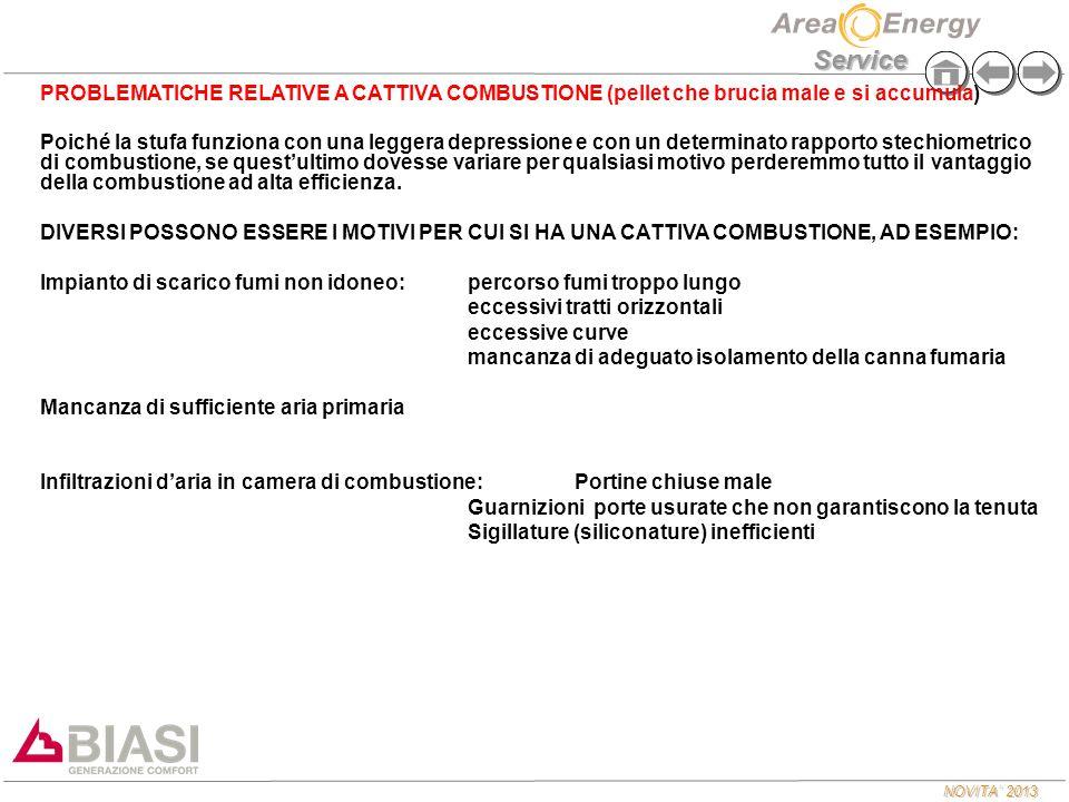 PROBLEMATICHE RELATIVE A CATTIVA COMBUSTIONE (pellet che brucia male e si accumula)