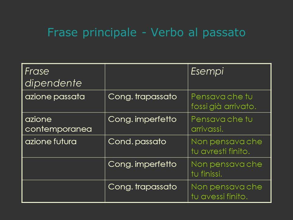 Frase principale - Verbo al passato