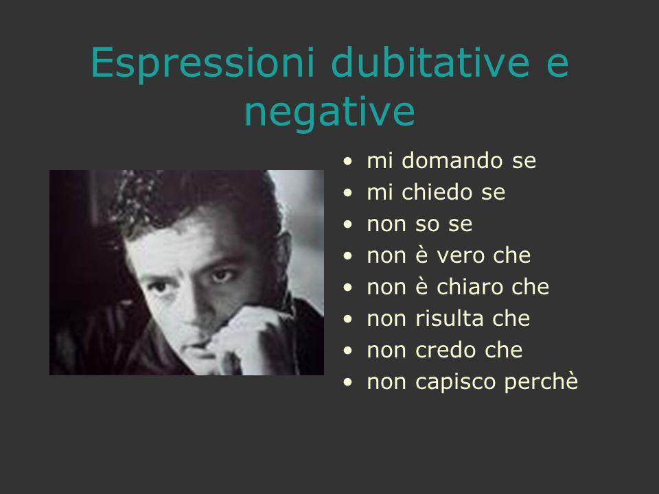 Espressioni dubitative e negative