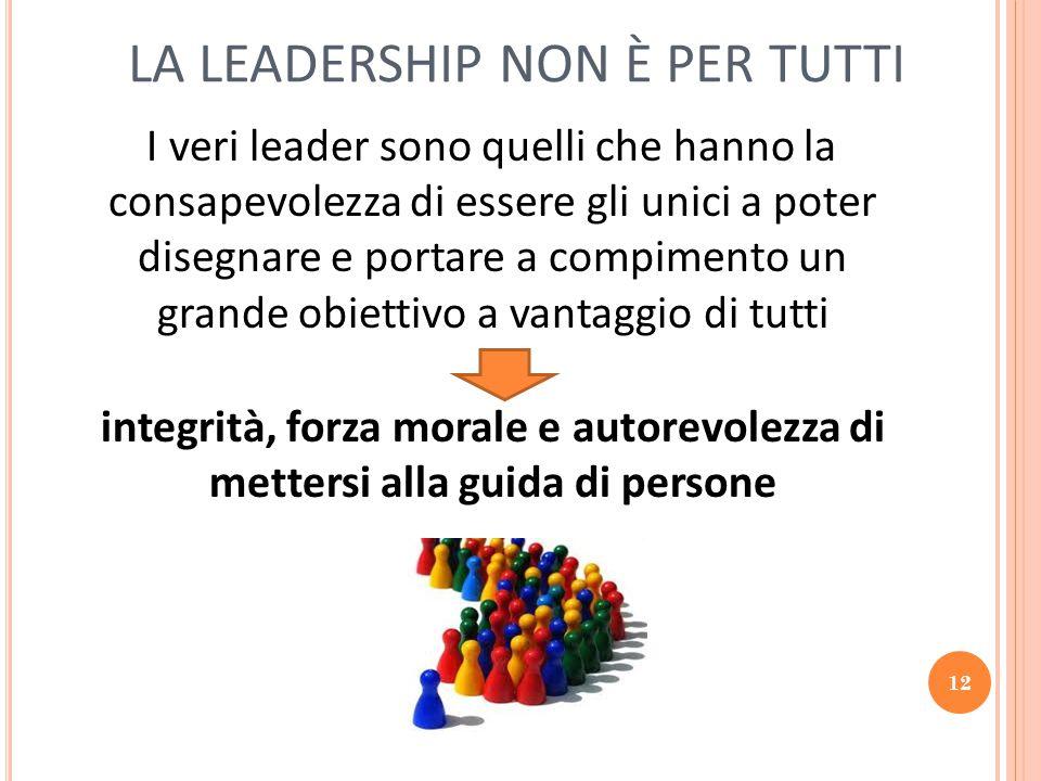 LA LEADERSHIP NON È PER TUTTI