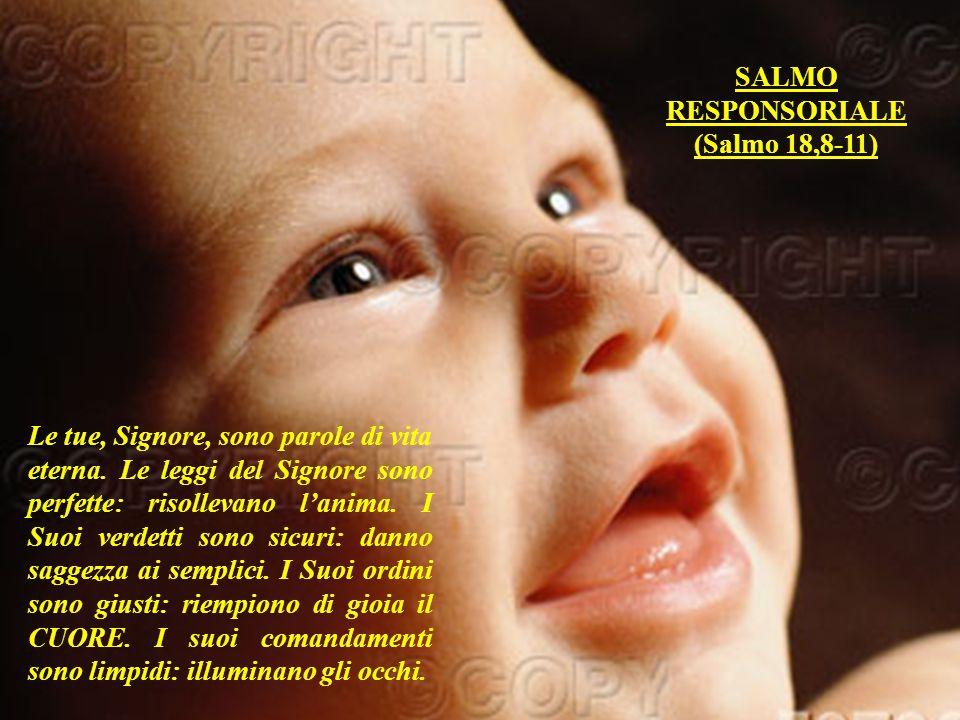 SALMO RESPONSORIALE. (Salmo 18,8-11)