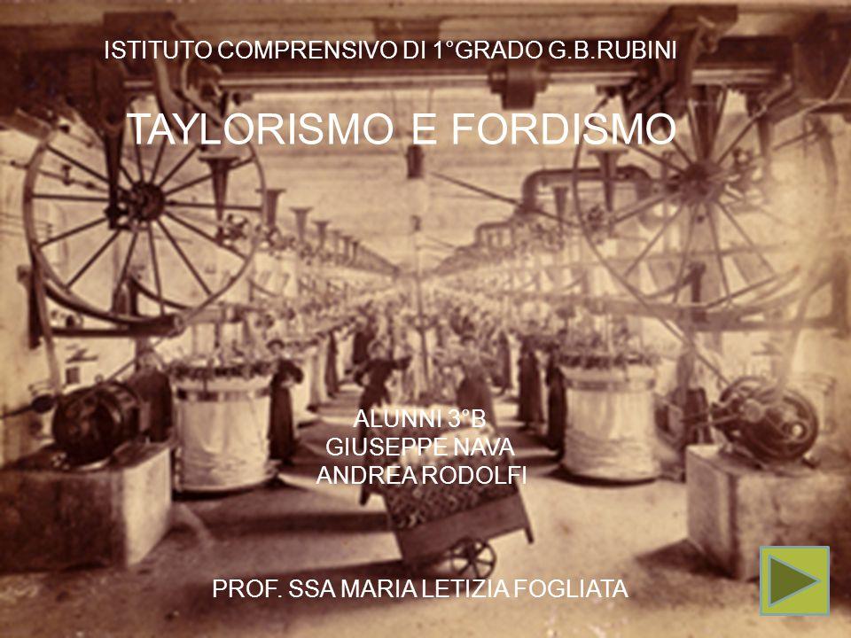 TAYLORISMO E FORDISMO TAYLORISMO E FORDISMO