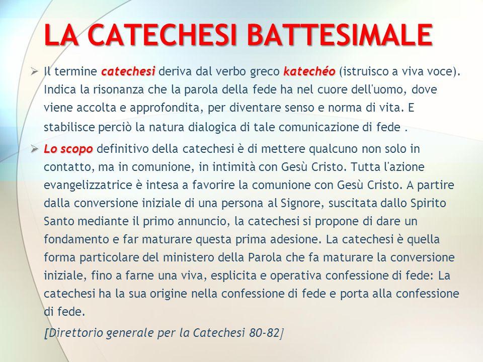 LA CATECHESI BATTESIMALE