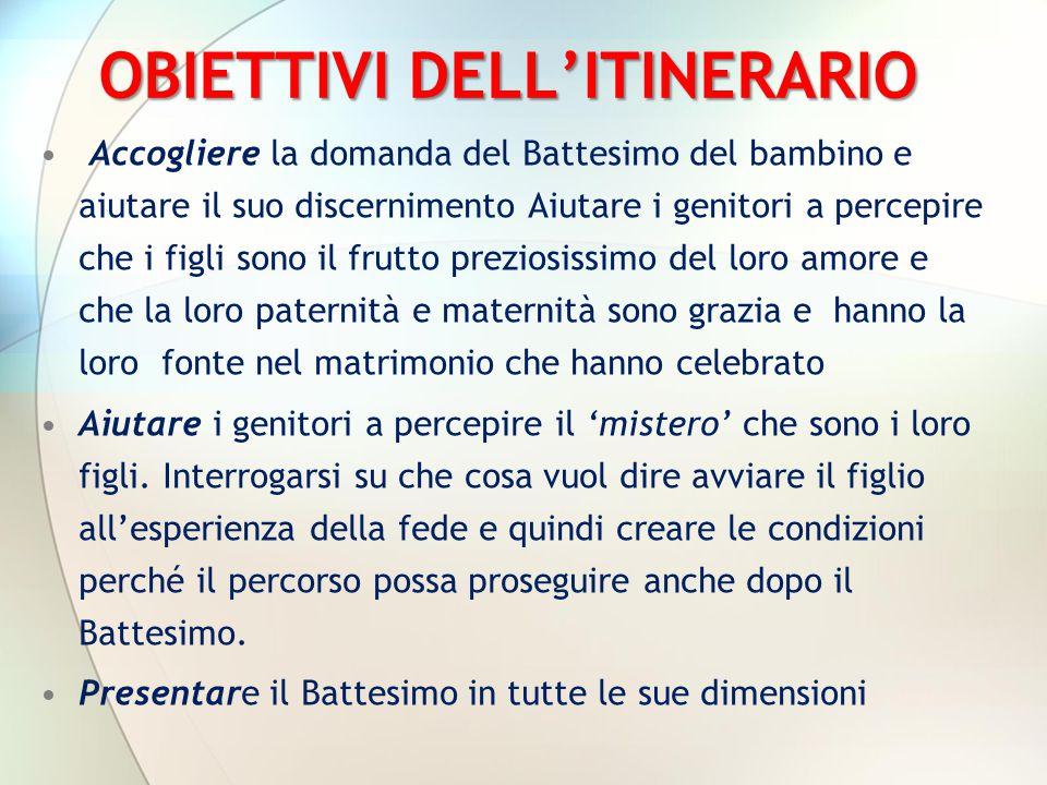 OBIETTIVI DELL'ITINERARIO
